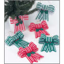 Candy Cane Bow Ornaments