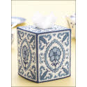 Blue Willow Tissue Box