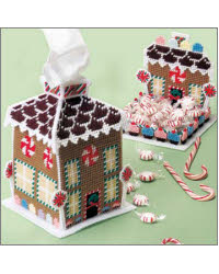 Houses Plastic | Needlepoint Canvas Kits