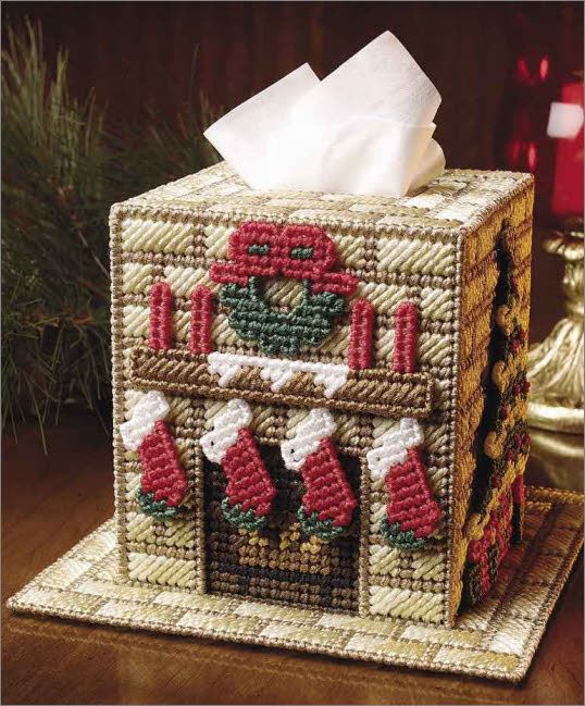 everything plastic canvas christmas home tissue topper