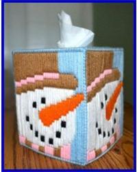 Quot Snowman Long Stitch Tissue Box Cover Quot