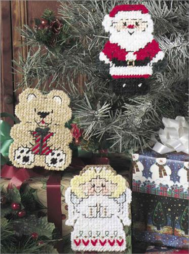 Plastic Canvas Christmas Ornaments.Everything Plastic Canvas Christmas Ornament Cuties
