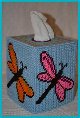 Everything Plastic Canvas Dragonfly Tissue Box Cover