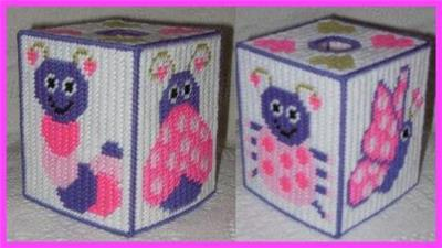 Everything Plastic Canvas Cute Bugs Tissue Box Cover