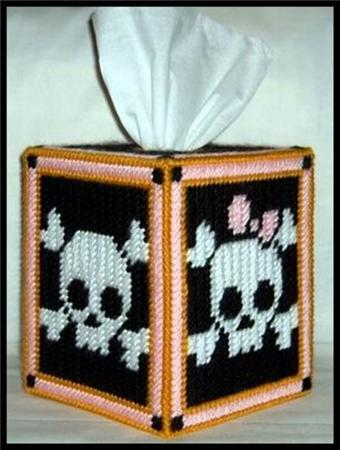 Everything Plastic Canvas His And Hers Skulls Tissue Box