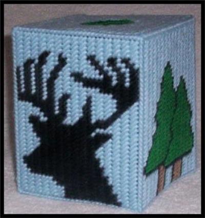 Deer Head Silhouette Tissue Box Cover