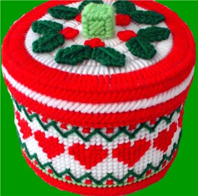 everything plastic canvas i love christmas candy dish - Christmas Candy Dishes