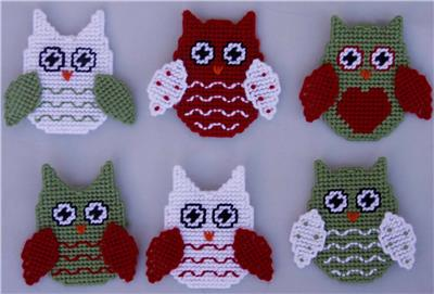 Everything Plastic Canvas Owl Christmas Ornaments