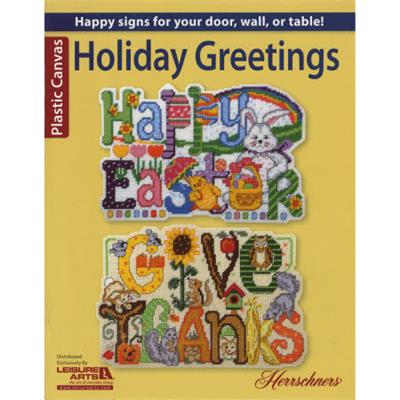 Leisure Arts SEASONAL DOOR SIGNS Plastic Canvas Patterns Book by Herrschners