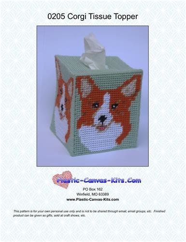 Basenji Dog Tissue Topper-Plastic Canvas Pattern or Kit